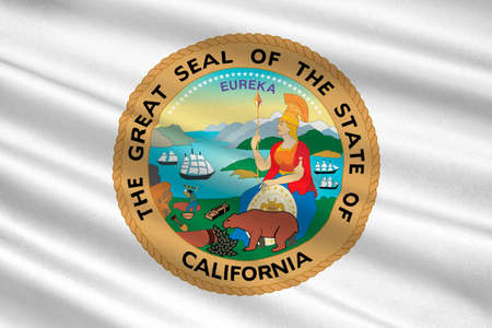 sierra nevada: Flag of California is the most populous state in United States. 3D illustration