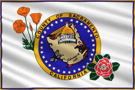 dorado: Flag of Sacramento County in California state, United States. 3D illustration