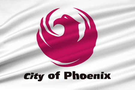 phoenix arizona: Flag of Phoenix in Arizona state, United States. 3D illustration