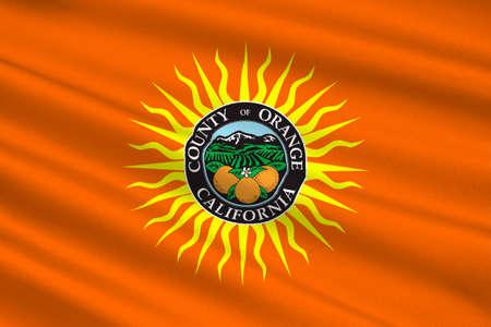 dorado: Flag of Orange County in California state, United States. 3D illustration