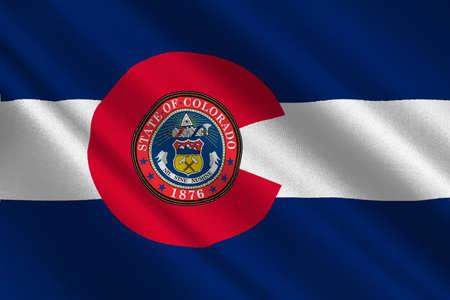 allegiance: Flag of Colorado in United States. 3D illustration