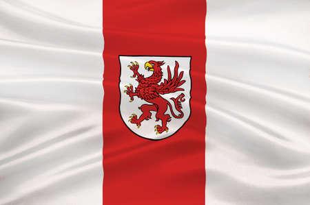 northwestern: Flag of West Pomeranian Voivodeship or West Pomerania Province in northwestern Poland. 3d illustration