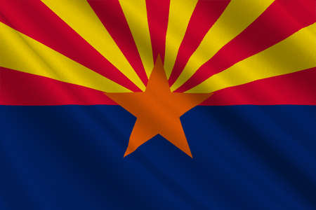 Flag of Arizona state, United States. 3D illustration