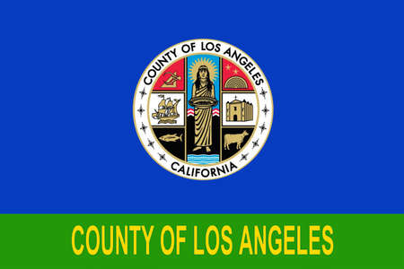 Flag Of Los Angeles County In California State United States