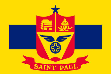 gopher: Flag of Saint Paul is the capital city of Minnesota state, United States. 3D illustration