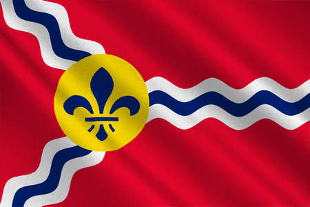 jefferson: Flag of St. Louis is a city and port in Missouri state of United States. 3D illustration