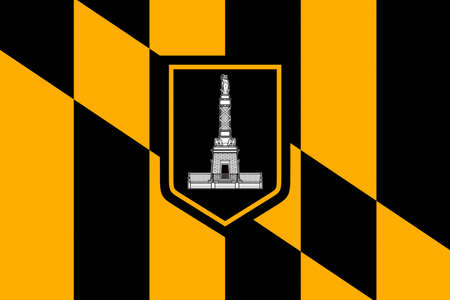 maryland flag: Flag of Baltimore city in Maryland state of United States. 3D illustration Stock Photo