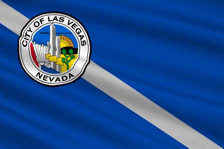 Flag of Las Vegas City of Nevada state, United States. 3D illustration Stock Photo