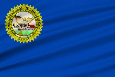 allegiance: Flag of Nevada state in the Western of United States. 3D illustration Stock Photo