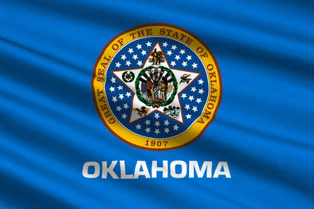 Flag Of Oklahoma Is A State In United States 3d Illustration Stock