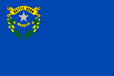 permanent wave: Flag of Nevada state in the Western of United States. 3D illustration Stock Photo