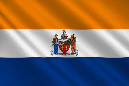 allegiance: Flag of Albany is the capital of New York state, United States. 3D illustration