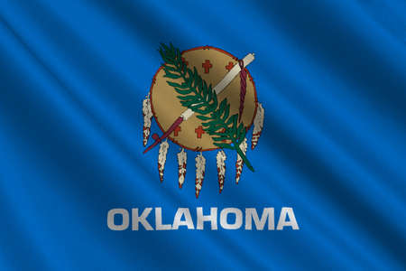 oklahoma: Flag of Oklahoma is a state in United States. 3D illustration