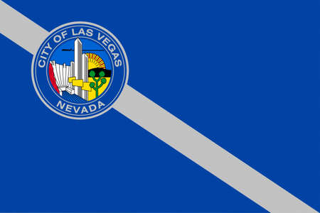 permanent wave: Flag of Las Vegas City of Nevada state, United States. 3D illustration Stock Photo