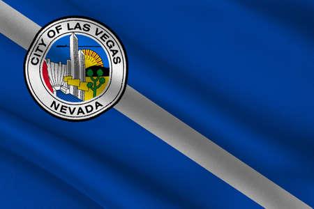 allegiance: Flag of Las Vegas City of Nevada state, United States. 3D illustration Stock Photo