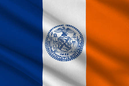 us congress: Flag of New York City or simply New York, is the most populous city in the United States. 3D illustration