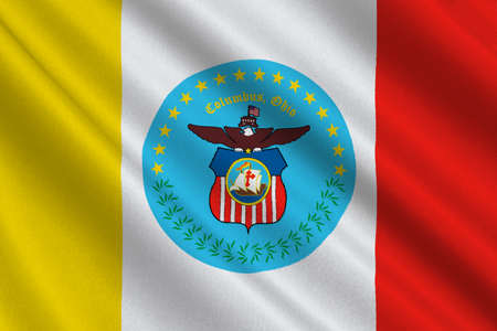 americana: Flag of Columbus is the capital city of Ohio state, United States. 3D illustration