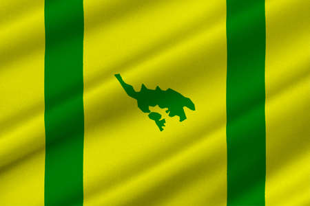 Flag of Isla Culebra (Snake Island) is an island-municipality of Puerto Rico, United States. 3D illustration
