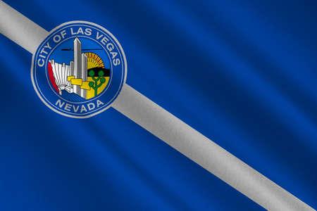 americana: Flag of Las Vegas City of Nevada state, United States. 3D illustration Stock Photo
