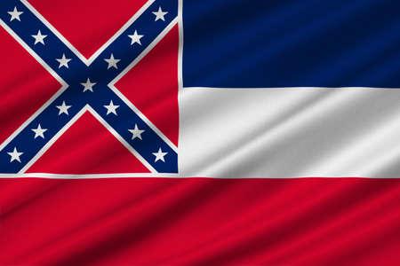 americana: Flag of Mississippi state of United States. 3D illustration Stock Photo