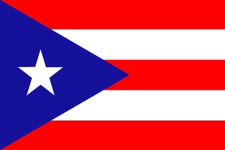 bandera de puerto rico: Bandera de Puerto Rico Estado situada en el noreste del Caribe, Estados Unidos. ilustración 3D Foto de archivo