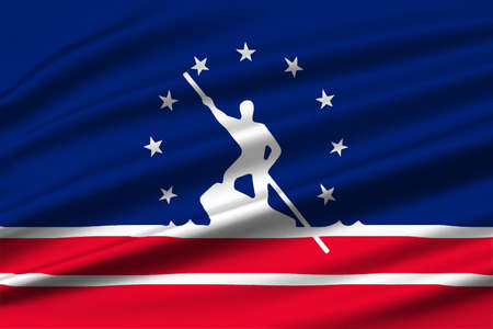 Flag of Richmond is the capital of Virginia, United States. 3D illustration