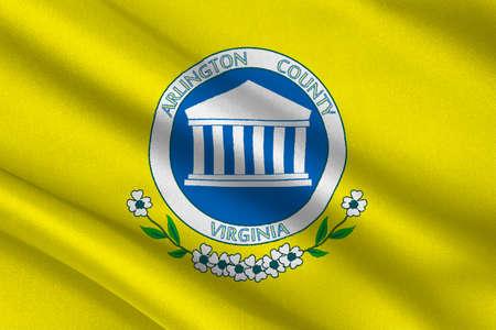 Flag of Arlington County of Virginia, USA. 3D illustration