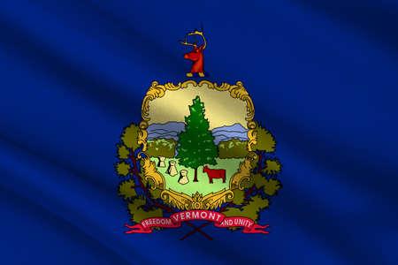 Flag of Vermont state, USA. 3D illustration