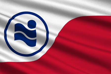 houston flag: Flag of Irving in Texas, United States. 3D illustration
