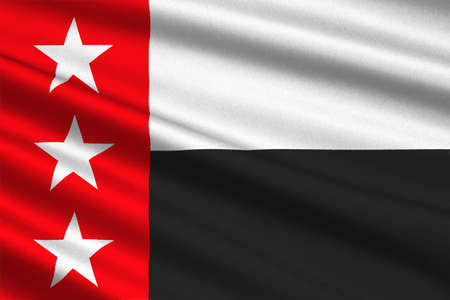 houston flag: Flag of Laredo is the county of Texas, United States. 3D illustration