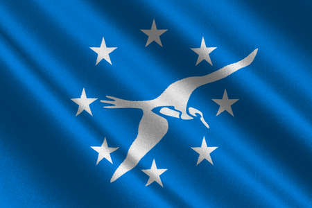 Flag of Corpus Christi is a coastal city in the South Texas, United States. 3D illustration Stock Photo