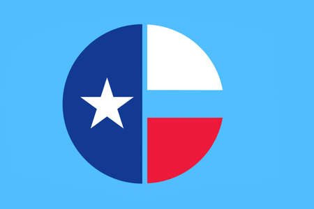 houston flag: Flag of Collin County in Texas, United States. 3D illustration