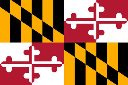 cockade: Flag of Maryland is a state of United States. 3D illustration Stock Photo