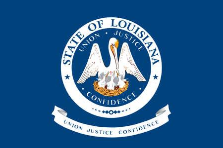 ルイジアナ州の旗は、アメリカ合衆国の状態です。3 D イラストレーション