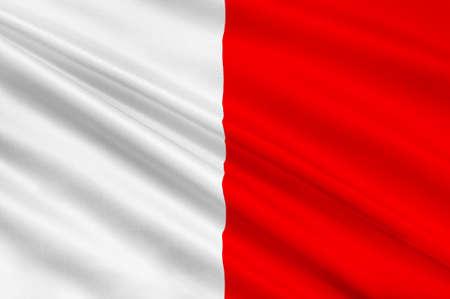barium: Flag of Bari is the capital city of the Metropolitan City of Bari and of the Apulia region, Italy. 3d illustration