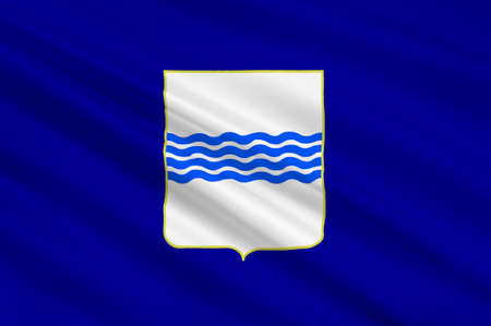 lucania: Flag of Basilicata also known as Lucania, is a region in the south of Italy. 3d illustration