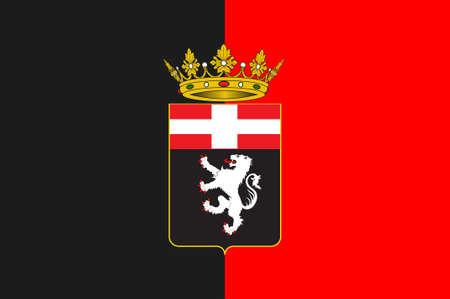 northwestern: Flag of Aosta Valley is a mountainous semi-autonomous region in northwestern Italy. 3d illustration