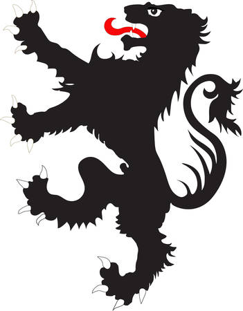 rampant: The rebels lion - the heraldic symbol used in the flags and coats of arms