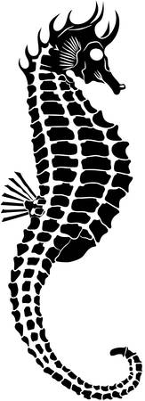 Vector image of a seahorse Illustration