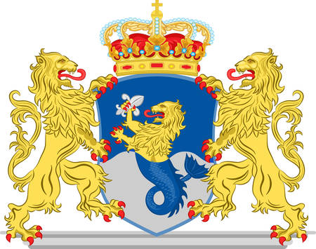 Coat of arms of Flevoland is a province of the Netherlands. Vector illustration