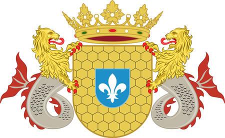 レリスタットの紋章付き外衣は自治体とオランダの中心部の都市で、首都。