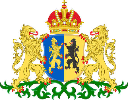 Coat of arms of Gelderland is a province of the Netherlands. Vector illustration
