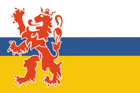 Flag of Limburg is the southernmost of the 12 provinces of the Netherlands. Vector illustration Illustration