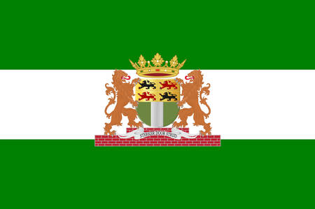 Flag of Rotterdam is a city in South Holland, the Netherlands. Vector illustration
