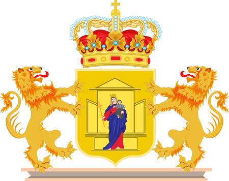 Coat of arms of Drenthe is a province of the Netherlands. Vector illustration