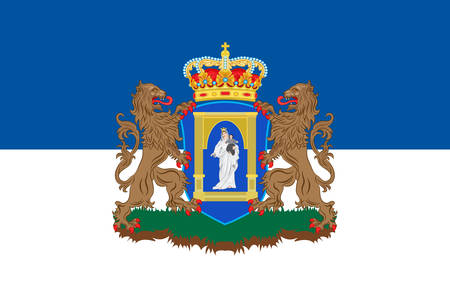 northeastern: Flag of Assen is a municipality and a city in the northeastern Netherlands, and is the capital of the province of Drenthe. Vector illustration