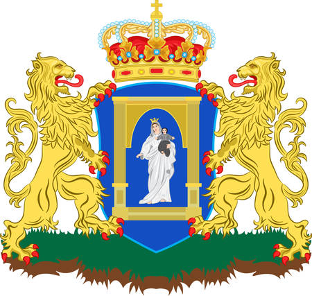kingdom of god: Coat of arms of Assen is a municipality and a city in the northeastern Netherlands, and is the capital of the province of Drenthe. Vector illustration