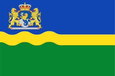 the hague: Flag of Flevoland is a province of the Netherlands. Vector illustration Illustration