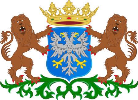Armoiries de Arnhem est une ville et une municipalité située dans la partie orientale des Pays-Bas. Illustration vectorielle Banque d'images - 74104663