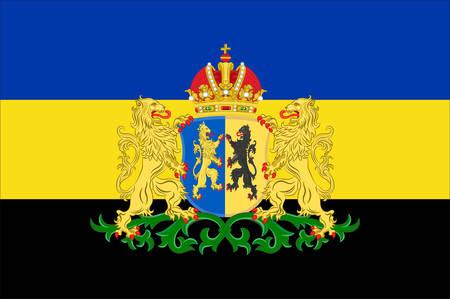 Flag of Gelderland is a province of the Netherlands. Vector illustration